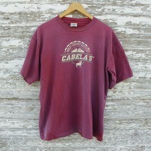 Other - No. 233 Vintage Cabela's Distressed XL T-Shirt
